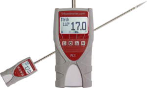 humimeter FL1 Hay, straw, hops and insulation moisture meter with fix mounted insertion probe of 0,6 metre