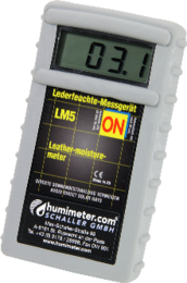 Leather-moisture-meter for the leather industry.