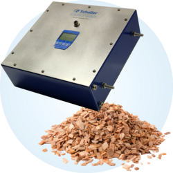 BRC moisture transmitter or determination of water content of dry wood chips