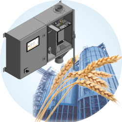 FSO precise fully automatic online whole grain moisture measuring system in the bypass