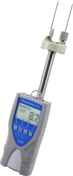 Moisture meter for the determination of textiles, natural materials, synthetics and yarn.