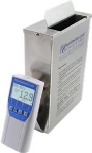 Revolutionary moisture meter to determine the moisture content of part dried and full dried sewage sludge-granulate.