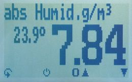 humimeter RH2 absolute humidity display