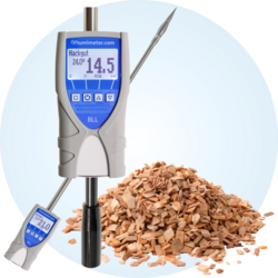 humimeter BLL Moisture meter with 1 meter long insertion probe