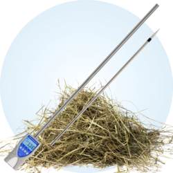 humimeter FLS Robust moisture and temperature hay stack probe of 2 meters length, separable
